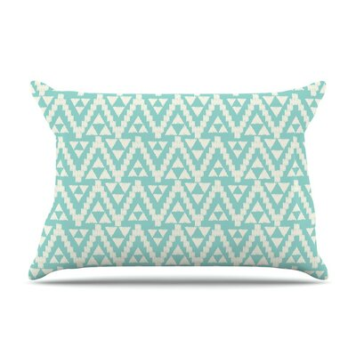 Geo Tribal Turquoise Sky Aztec by Amanda Lane Cotton Pillow Sham