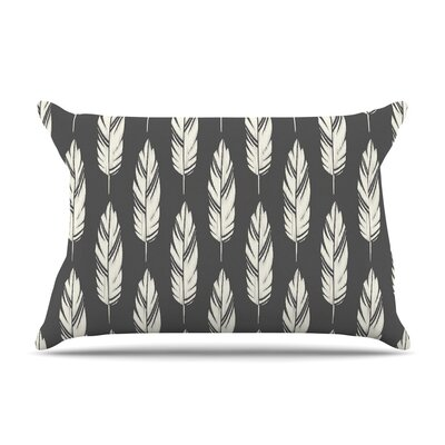 Feathers Cream by Amanda Lane Cotton Pillow Sham