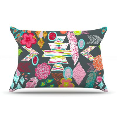 Aztec Boho Tropical by Anneline Sophia Rainbow Cotton Pillow Sham