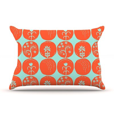Dotty Papercut by Anneline Sophia Circles Cotton Pillow Sham