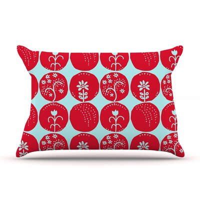 Dotty Papercut by Anneline Sophia Circles Blue Featherweight Pillow Sham