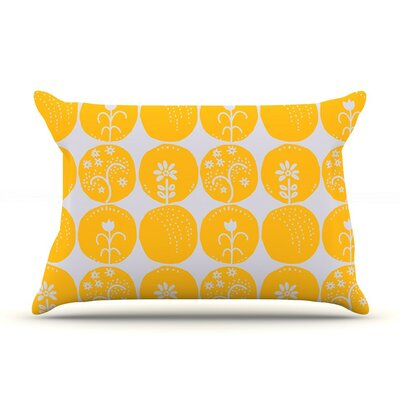 Dotty Papercut Yellow by Anneline Sophia Circles Featherweight Pillow Sham