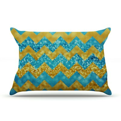 Blueberry Twist by Beth Engel Chevron Cotton Pillow Sham