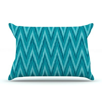 Island by Amanda Lane Aqua Navy Featherweight Pillow Sham