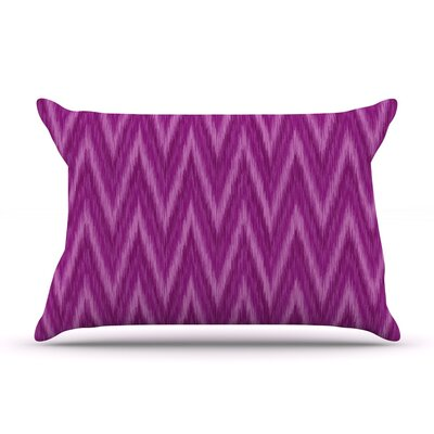 Plum Purple Chevron by Amanda Lane Cotton Pillow Sham