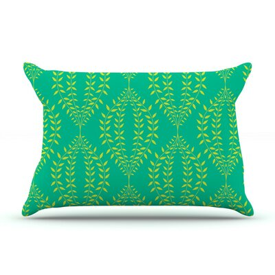 Laurel Leaf Green by Anneline Sophia Featherweight Pillow Sham, Floral