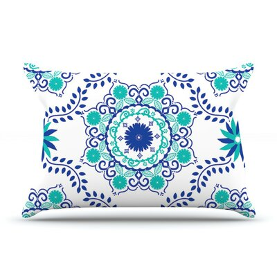 Lets Dance Blue by Anneline Sophia Featherweight Pillow Sham, Aqua