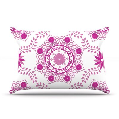 Lets Dance Fuchsia by Anneline Sophia Floral Cotton Pillow Sham