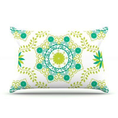 Lets Dance Green by Anneline Sophia Featherweight Pillow Sham, Floral
