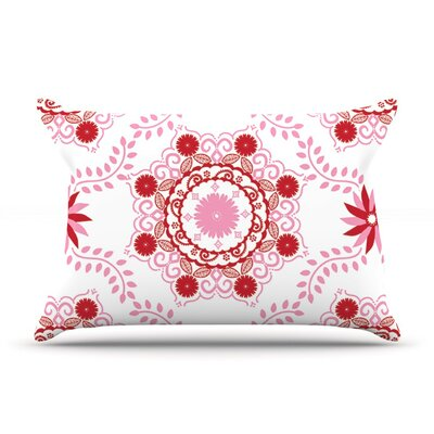 Lets Dance Red by Anneline Sophia Featherweight Pillow Sham, Floral