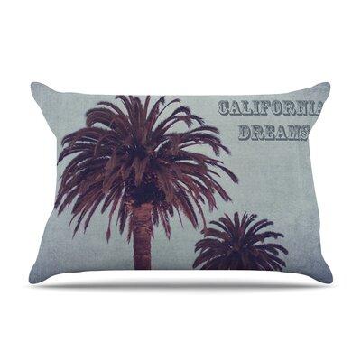 California Dreams by Ann Barnes Blue Featherweight Pillow Sham