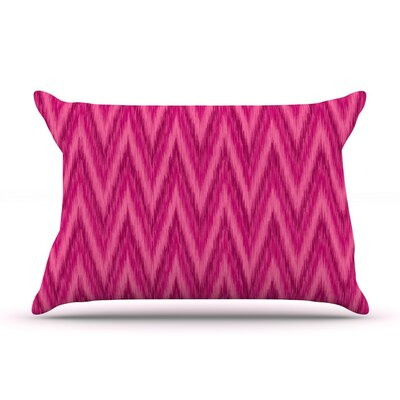 Berry Chevron by Amanda Lane Magenta Pink Cotton Pillow Sham