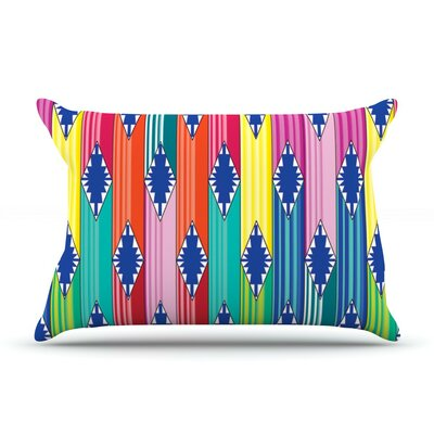 Blanket by Anneline Sophia Rainbow Tribal Cotton Pillow Sham