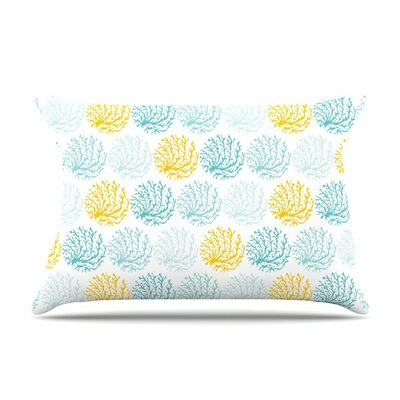 Coralina by Anchobee Yellow Featherweight Pillow Sham