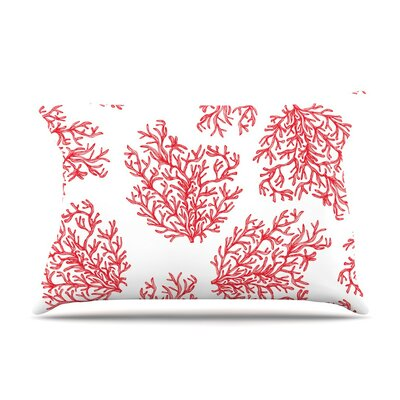 Coral by Anchobee White Featherweight Pillow Sham