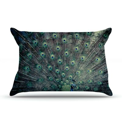 Majestic by Ann Barnes Peacock Feather Cotton Pillow Sham