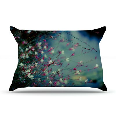 Monets Dream by Ann Barnes Dark Flower Cotton Pillow Sham