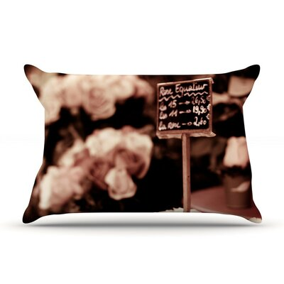 Paris Flower Market by Ann Barnes Cotton Pillow Sham