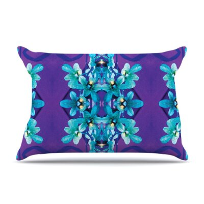 Blue Orchids by Dawid Roc Floral Featherweight Pillow Sham