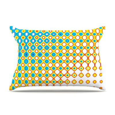 Psychedelic Art by Dawid Roc Blue Featherweight Pillow Sham