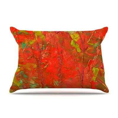 Crimson Forest by Jeff Ferst Green Featherweight Pillow Sham