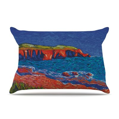 Sea Shore by Jeff Ferst Coastal Painting Featherweight Pillow Sham