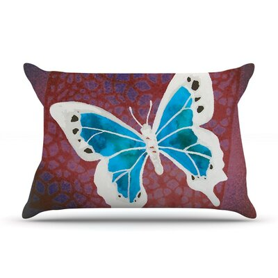 Flutter Aqua by Padgett Mason Cotton Pillow Sham