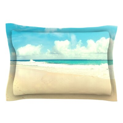 Beach Time by Sylvia Cook Blue Featherweight Pillow Sham