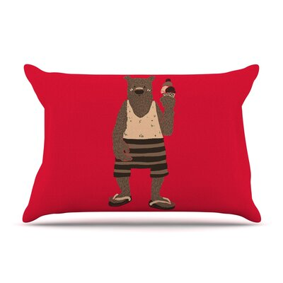 Vacation by Tobe Fonseca Red Featherweight Pillow Sham