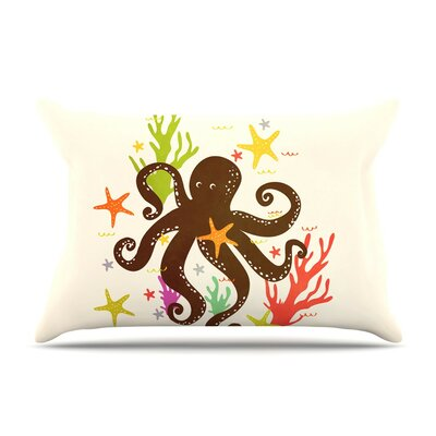 Friends Around the Sea Octopus by Strawberringo Cotton Pillow Sham