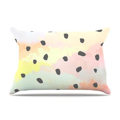 With Dots by Strawberringo Pastel Painting Cotton Pillow Sham