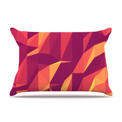 Abstract Mountains by Strawberringo Cotton Pillow Sham