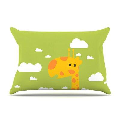Baby Giraffe by Strawberringo Cotton Pillow Sham