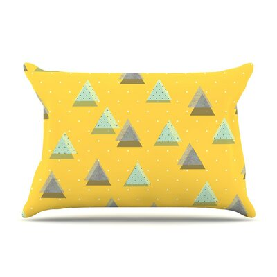 Triangles by Strawberringo Geometric Featherweight Pillow Sham