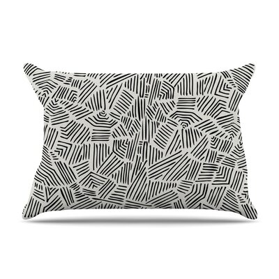 Inca Lines Illustration by Pom Graphic Design Cotton Pillow Sham