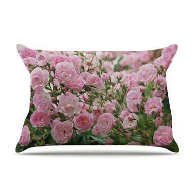 The Fairy Rose Floral by Sylvia Cook Cotton Pillow Sham