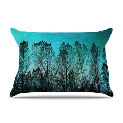 Dark Forest Trees by Sylvia Cook Cotton Pillow Sham