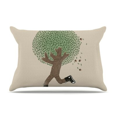 Run for Your Life Tree Illustration by Tobe Fonseca Cotton Pillow Sham