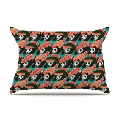 Sushi Panda by Tobe Fonseca Blue Featherweight Pillow Sham