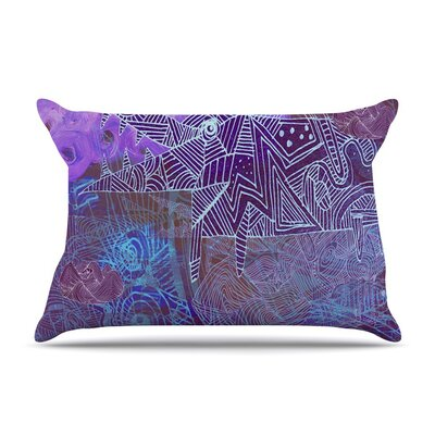 Abstract With Wolf by Marianna Tankelevich Illustration Featherweight Pillow Sham