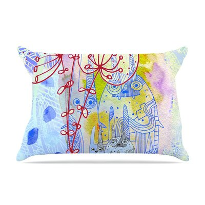 Composition with Bunnies in Abstract Rabbits by Marianna Tankelevich Cotton Pillow Sham