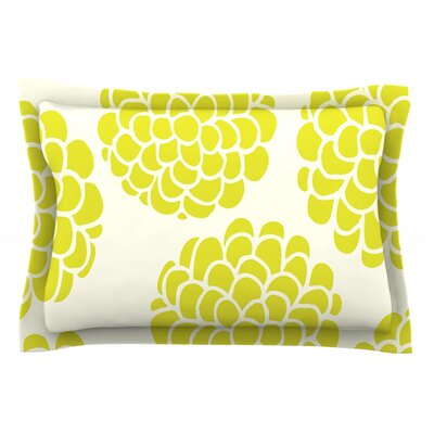 Grape Blossoms by Pom Graphic Design Circles Cotton Pillow Sham
