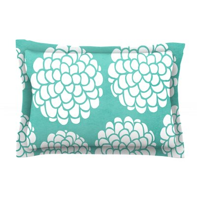 Hydrangeas Blossoms by Pom Graphic Design Circles Cotton Pillow Sham