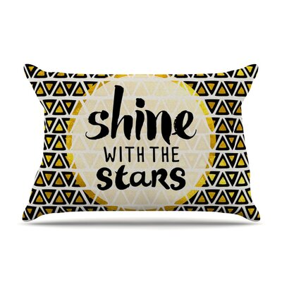 Shine with the Stars Yellow by Pom Graphic Design Cotton Pillow Sham