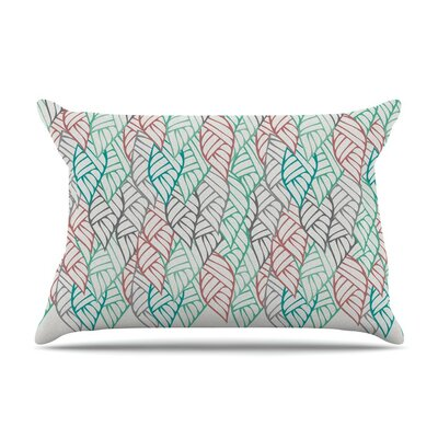 Ethnic Leaves by Pom Graphic Design Cotton Pillow Sham