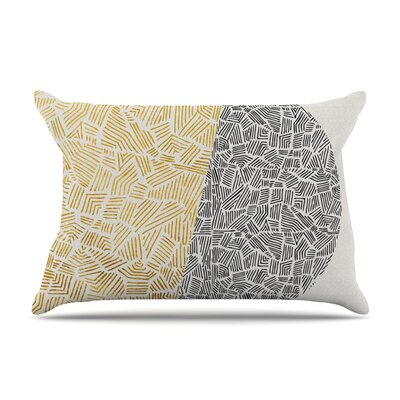 Inca Day & Night by Pom Graphic Design Gold Featherweight Pillow Sham