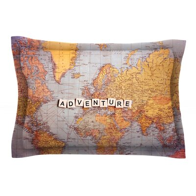 Adventure Map by Sylvia Cook World Cotton Pillow Sham