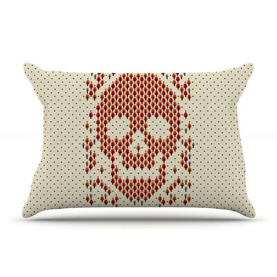 Deforestation Skull Illustration by Tobe Fonseca Cotton Pillow Sham