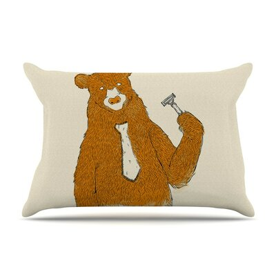 Work by Tobe Fonseca Bear Cotton Pillow Sham
