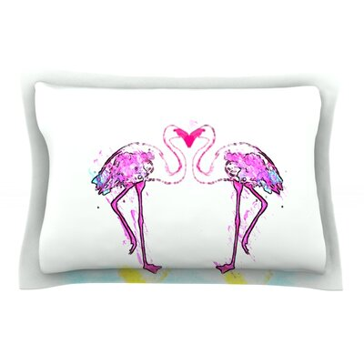 Love by Oriana Cordero Flamingo Cotton Pillow Sham